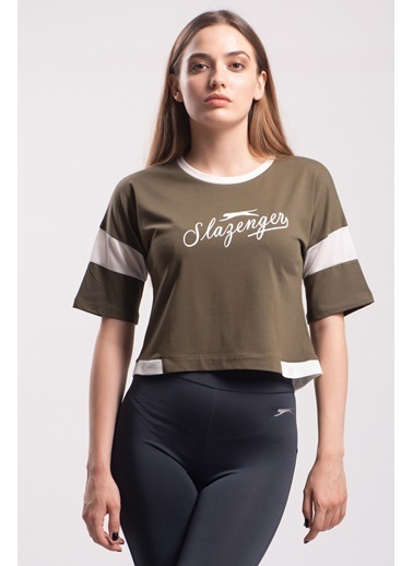Slazenger Polsy Kadın Kısa Kol Tişört Haki